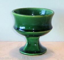 Vintage McCoy Green Pedestal Planter Footed Ceramic Plant Holder