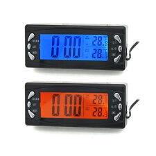 New Auto Digital Clock 12V LCD Car  Temperature Outside And Inside Thermometer