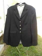 EURO-STAR DRESSAGE SHOW COAT LADIES BLACK SEE MEASUREMENTS