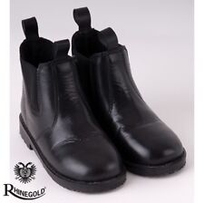 Rhinegold Little Tots Leather Jodhpur Boots – Child size 8, BLACK **FREE P&P**