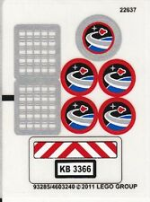 LEGO 3366 - City, Space - Satellite Launch Pad - STICKER SHEET