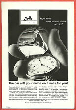 1960 AVIS Rent-a-Car Ad ~Minute-saver service,Pocketwatch~Your car waits for you