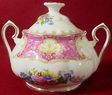 ROYAL ALBERT china LADY CARLYLE pattern SUGAR BOWL with LID 2-7/8""