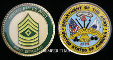 FIRST SERGEANT US ARMY CHALLENGE COIN E-8 MILITARY RANK PIN UP PROMOTION GIFT