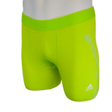 adidas Men's Training Techfit Compression Shorts Bright Green XL