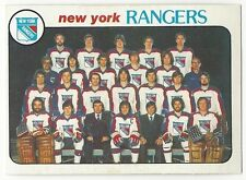 1978-79 OPC HOCKEY #202 RANGERS CHECKLIST - EXCELLENT+