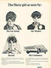 1966 Ford Hertz Rental - Vintage Advertisement Car Print Ad J495