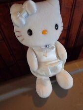 RARE WHITE HELLO KITTY BLOPRESS 2003 SANRIO PLUSH DOLL FIGURE JAPANESE TOY