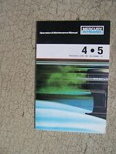 1987 Mercury Outboard Motor 4 5 HP Owner Operation Maintenance Manual Boat  S