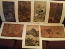 LOT 7 ASIAN CHINESE ART PRINTS NATIONAL PALACE MUSEUM CRANES FLOWERS CHILDREN