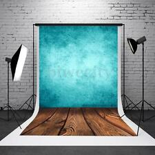 3x5ft Vinyl Blue Board Wood Photography Background Backdrop For Studio Photo