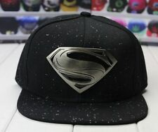 Ball Baseball Hip-Hop Cap SUPERMAN BLACK Metal logo Hat Flex Fit Sports Outdoor