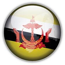 Brunei Glossy Map Flag Car Bumper Sticker Decal 5'' x 5''