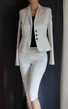Marc Cain Beige Jacket & Capri Pant Crop Trouser Suit N3 / UK12