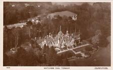 Air Aerial View Watcombe Park Torquay RP pc used 1936 Aero Pictures