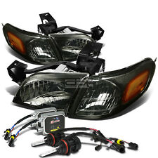 SMOKE HEADLAMPS AMBER SIGNAL LIGHT+12000K HID KIT FOR 97-05 VENTURE/SILHOUETTE