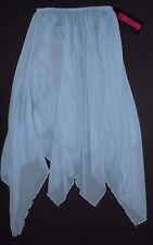 NWT Eurotard Chiffon Overlay Skirt 39768 Stretch Waist Ladies Light Blue
