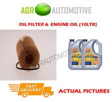 DIESEL OIL FILTER + LL 5W30 ENGINE OIL FOR TOYOTA RAV 4 2.2 177 BHP 2012-