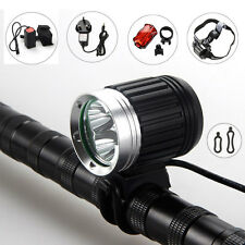 8000Lm 3X CREE XM-L T6 LED Headlamp Headlight Head Front Bicycle Lamp Bike Light