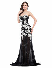 Plus Size MERMAID Masquerade Long Formal Evening Ball Gown Bridesmaid Prom Dress