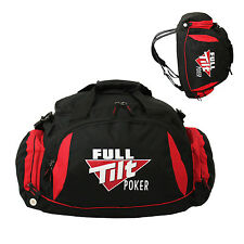"Full Tilt Poker Convertible 21"" Sport Duffel Gym/Travel Bag Backpack Black/Red"