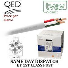 QED QX16/4 PVC Retardante Llama Cable De Altavoces - BLANCO - Precio Por Metro