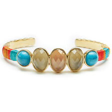 "NEW HIPANEMA Gold/Amber ""GIGI"" Gem Stone Bangle Bracelet -SALE"
