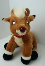 RUDOLPH THE RED NOSE REINDEER PLUSH W/MUSIC  LIGHT UP NOSE 1998 PRESTIGE TOY CO.
