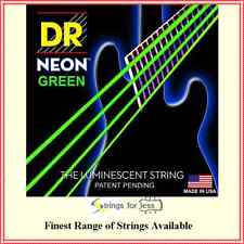 DR Strings Hi-Def Coated NEON Green  Electric Bass Guitar Strings 45 - 105
