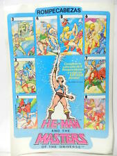 VINTAGE HE MAN MOTU MASTERS OF THE UNIVERSE 1984 POSTER ADVERTISING OF PUZZLE