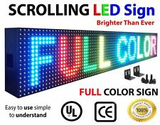 "SEMIOUTDOOR LED SIGN PROGRAMMABLE 3FT X 6"" SCROLLING 10mm DIGITAL SCREEN DISPLAY"