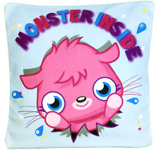 MOSHI MONSTERS 30CM SQUARE FILLED CUSHION PILLOW KIDS GIRLS CHARACTER BEDROOM