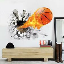 3D Basketball Rush Out Wall Kids Room Decorative Wall sticker Decals Wallpaper