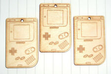 Kawaii mignon rétro en bois old school gameboy x 3 lot kitsch 80s console de jeux