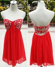 NWT Morgan & Co $150 Red Prom Cocktail Party Dress 7