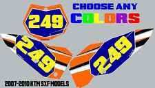 KTM Number Plate Graphics 07-10 250 450 505 SXF Sticker Decal Backgrounds sx 250