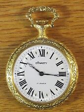 Endura Dynasty Swiss 17 Jewels Windup Gold Plated Men's Pocket Watch