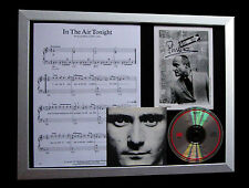 PHIL COLLINS+SIGNED+FRAMED+IN THE AIR TONIGHT=100% AUTHENTIC+FAST GLOBAL SHIP