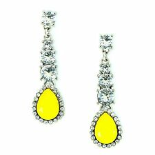 Kristin Perry Bridal Drop Crystal Dangle Earrings Made with Swarovski Crystals