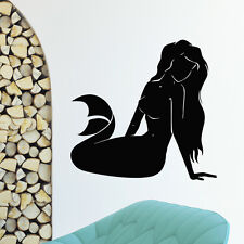 WALL DECAL VINYL STICKER FANTASY GIRL MERMAID BATHROOM DECOR SB660