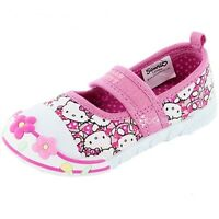 Girls Hello Kitty Dianthus Canvas Trainers Shoe Sizes 4-10