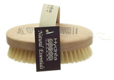 Hydrea London Dry Skin Body Brush w/ Curved Cactus Bristle Beechwood Hand Strap