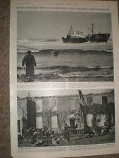 Photo article fire at Salthill House Chichester 1955 ref Z