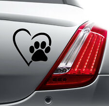 PAW HEART FUNNY STICKER Car Bumper Van Window Laptop JDM VINYL DECALS STICKERS