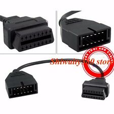 12 Pin OBD1 to 16 Pin OBD2 Convertor Adapter Cable For GM Diagnostic Scanner New