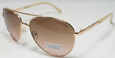 Tommy Hilfiger LINDSAY WM 0L275 Women's Rose Gold Frame Aviator Sunglasses NEW