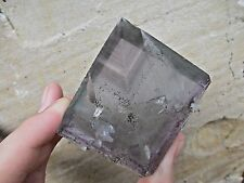 Blue with Purple phantom zoning Slab Fluorite W/ Pyrite Hardin Co Illinois