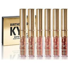 Kylie Jenner Cosmetics Kit Liquid Matte Lipstick Birthday Limited Edition 6 Pcs