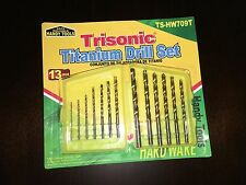 New Trisonic 13 Pieces Titanium Drill Bit Set