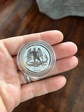 silver 2016 isle of man angel 1 troy ounce coin bullion reverse proof in capsule